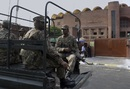 Pakistan's military troops guard the Gaddafi Stadium, Lahore, September 11, 2017