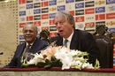 Najam Sethi and Giles Clarke address the media, Lahore, September 11, 2017