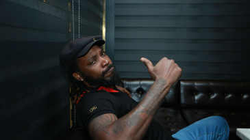 Chris Gayle gives a thumbs up