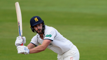 Matthew Lamb bats for Warwickshire