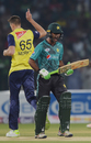 Fakhar Zaman lets out a roar of frustration after Morne Morkel sniped him out in the first over, Pakistan v World XI, 1st T20I, Independence Cup 2017, Lahore, September 12, 2017