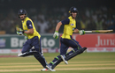 Faf du Plessis and Tim Paine run between the wickets, Pakistan v World XI, 1st T20I, Independence Cup 2017, Lahore, September 12, 2017