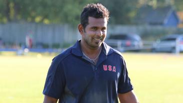 Roy Silva walks off victorious after an unbeaten 38 off 36 balls