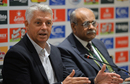 David Richardson and Najam Sethi address a press conference in Lahore, Pakistan v World XI, 2nd T20I, Independence Cup 2017, Lahore, September 13, 2017