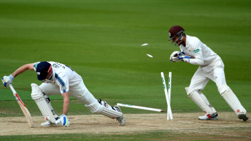 Shaun Marsh is stumped by Surrey's Ben Foakes