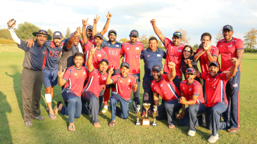 USA celebrates after regaining the Auty Cup for the first time in 26 years