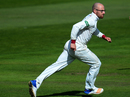 Jack Leach wheels away in triumph, Somerset v Lancashire, Specsavers Championship Division One, Taunton, September 15, 2017
