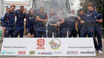 Essex continue the party after arriving back at Chelmsford with the Championship title confirmed