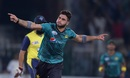 Usman Khan celebrates after taking out Tamim Iqbal, Pakistan v World XI, 3rd T20I, Lahore, September 15, 2017