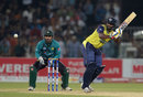 Thisara Perera hit three sixes and two fours in a cameo of 32 off 13 balls, Pakistan v World XI, 3rd T20I, Lahore, September 15, 2017