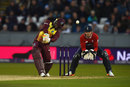 Evin Lewis goes over the off side, England v West Indies, only T20I, Chester-le-Street, September 16, 2017