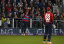 Tom Curran gets underneath a catch at fine leg, England v West Indies, only T20I, Chester-le-Street, September 16, 2017