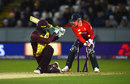 Carlos Brathwaite missed a sweep against Adil Rashid, England v West Indies, only T20I, Chester-le-Street, September 16, 2017