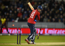 Alex Hales was bowled by Carlos Brathwaite, England v West Indies, only T20I, Chester-le-Street, September 16, 2017