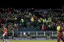 Three spectators were injured during the partial collapse of a stand, England v West Indies, T20I, Chester-le-Street, September 16, 2017