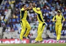 Nathan Coulter-Nile took three wickets in his opening spell, India v Australia, 1st ODI, Chennai, September 17, 2017