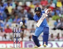 Kedar Jadhav drives the ball, India v Australia, 1st ODI, Chennai, September 17, 2017