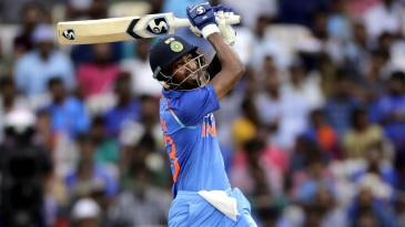 Hardik Pandya blasted a career-best 83