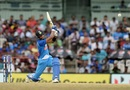 Hardik Pandya thumps one down the ground, India v Australia, 1st ODI, Chennai, September 17, 2017