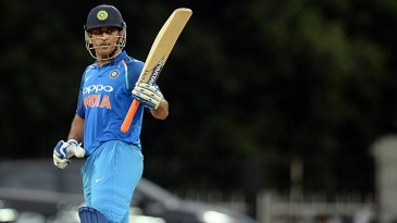 MS Dhoni soaks in the cheers after notching up a half-century