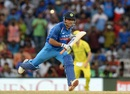 MS Dhoni sprints across for a run, India v Australia, 1st ODI, Chennai, September 17, 2017