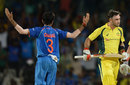 Yuzvendra Chahal gesticulates after dismissing Glenn Maxwell, India v Australia, 1st ODI, Chennai, September 17, 2017