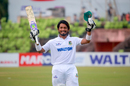 Anamul Haque celebrates his double-hundred, Khulna Division v Rangpur Division, Tier 1, National Cricket League, Khulna, September 18, 2017