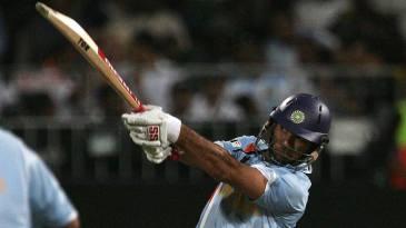 Yuvraj Singh swings for his sixth consecutive six
