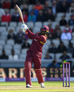 Chris Gayle launched his innings with a volley of sixes, England v West Indies, 1st ODI, Old Trafford, September 19, 2017