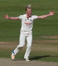 Luke Wood celebrates a wicket, Northants v Notts, Specsavers Championship, Division Two, Northampton, September 19, 2017
