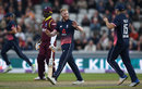 Ben Stokes broke a useful third-wicket stand, England v West Indies, 1st ODI, Old Trafford, September 19, 2017