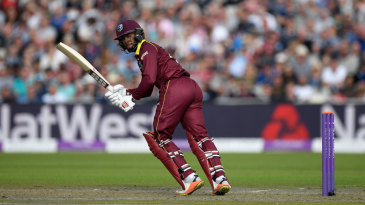 Shai Hope struck four fours in his 35