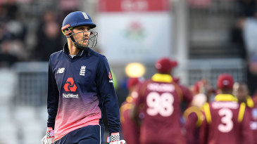 Alex Hales fell for 19 early in England's chase
