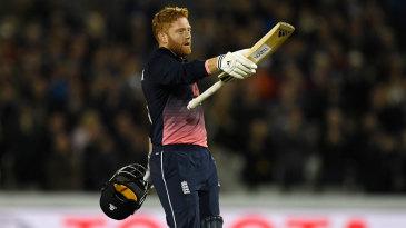 Jonny Bairstow brought up his maiden ODI hundred