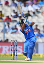 Rohit Sharma unleashes the copybook cover drive, India v Australia, 2nd ODI, Kolkata, September 21, 2017