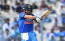Virat Kohli flat-bats a pull shot, India v Australia, 2nd ODI, Kolkata, September 21, 2017