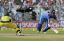 Ajinkya Rahane dishes in a full-length dive, India v Australia, 2nd ODI, Kolkata, September 21, 2017