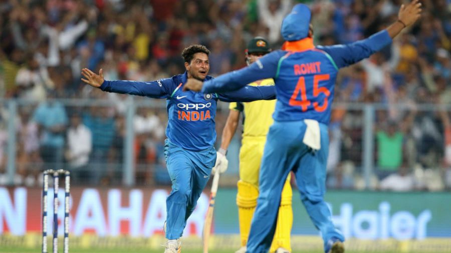 Kuldeep Yadav became only the third Indian to take an ODI hat-trick