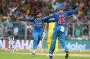 Kuldeep Yadav became only the third Indian to take an ODI hat-trick, India v Australia, 2nd ODI, Kolkata, September 21, 2017