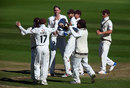 Rikki Clarke claimed the early wicket of Tom Abell, Surrey v Somerset, County Championship, Division One, The Oval, September 22, 2017
