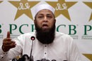 Pakistan chief selector Inzamam-ul-Haq announced the Test squad for upcoming series against Sri Lanka, Lahore, September 23, 2017