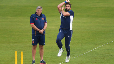 Essex coach Chris Silverwood came in to work with England's bowlers