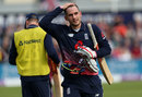 Alex Hales was lbw after making 36, England v West Indies, 3rd ODI, Bristol, September 24, 2017
