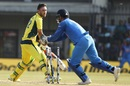 MS Dhoni effects his 100th stumping for India to dismiss Glenn Maxwell, India v Australia, 3rd ODI, Indore