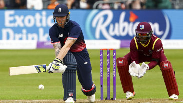 Ben Stokes plays the reverse sweep