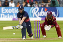 Ben Stokes plays the reverse sweep, England v West Indies, 3rd ODI, Bristol, September 24, 2017