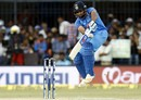 Rohit Sharma awkwardly fends one away, India v Australia, 3rd ODI, Indore