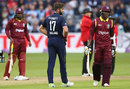 Marlon Samuels was given out on review, England v West Indies, 3rd ODI, Bristol, September 24, 2017