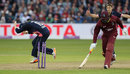 Chris Gayle was run out by a direct hit, England v West Indies, 3rd ODI, Bristol, September 24, 2017