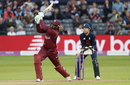 Chris Gayle smashes down the ground, England v West Indies, 3rd ODI, Bristol, September 24, 2017
